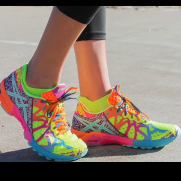Asics Multi Colored Tennis Shoes