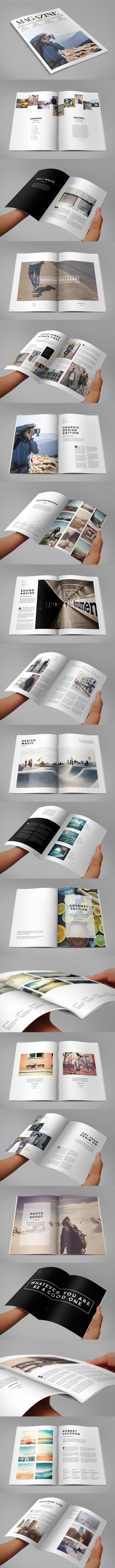 Minimal Style Magazine. Download here: http://graphicriver.net/item/minimal-style-magazine/8933496?ref=abradesign #design #mag #magazine