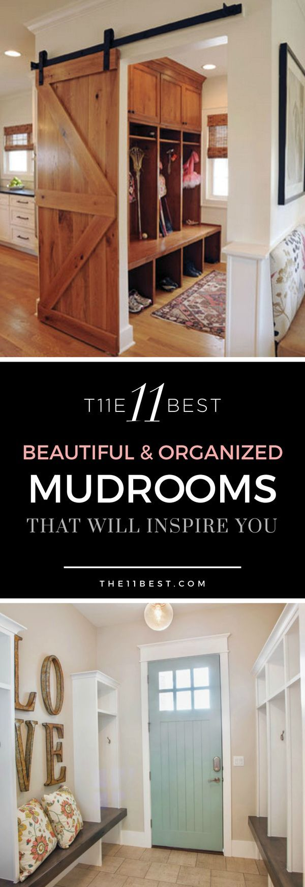 Create a mudroom that adds impact and design to your home. Love these ideas!