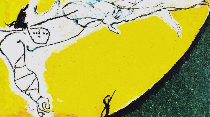 Angelo ribelle su fondo giallo, 1951 21.6  x  38.8  cm