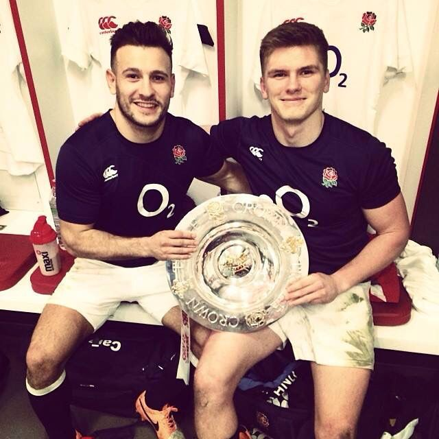 Danny Care and Owen Farrell #rugby #hotties #yum