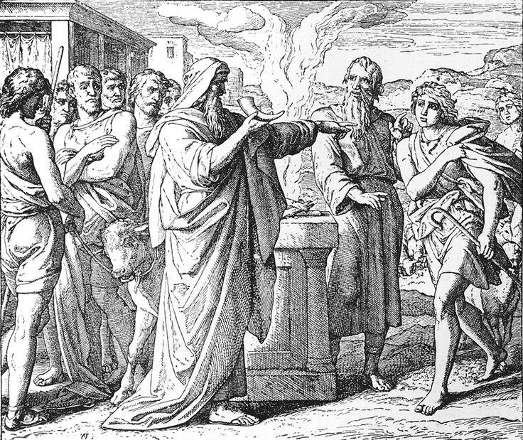 Bilder der Bibel - Davids erste Salbung zum König - Julius Schnorr von Carolsfeld