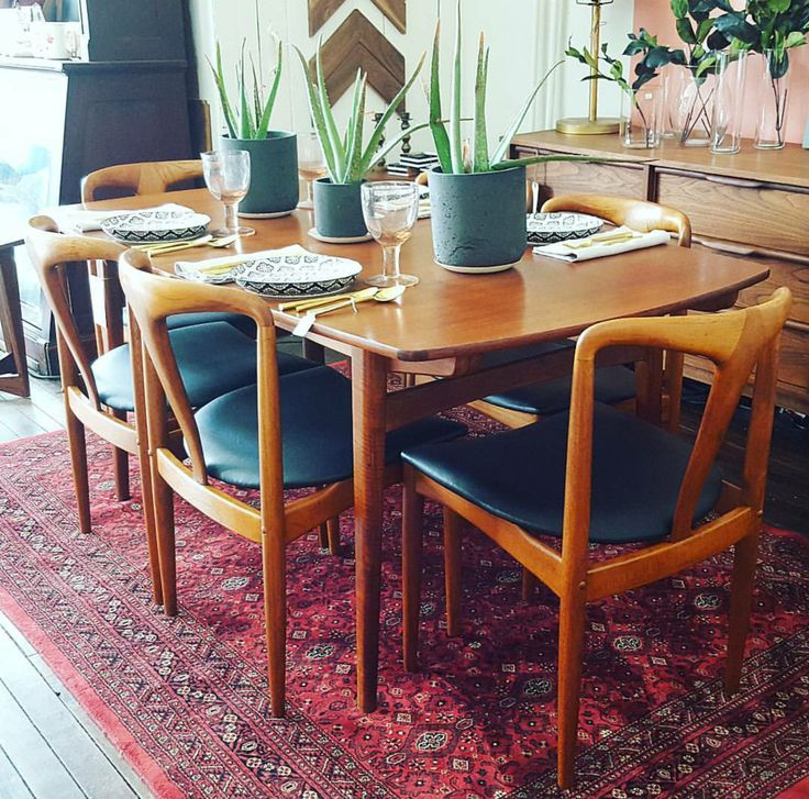 Mid century teak Johannes Anderson dining chairs