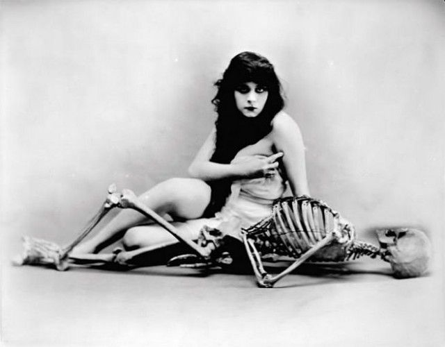 Silent film actress Theda Bara
