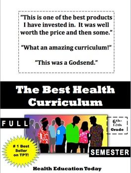 This is the #1 best selling Health curriculum on the whole TPT website!!