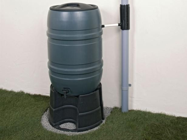 Beautiful DIYNetwork has instructions on how to harvest rainwater with a rain barrel