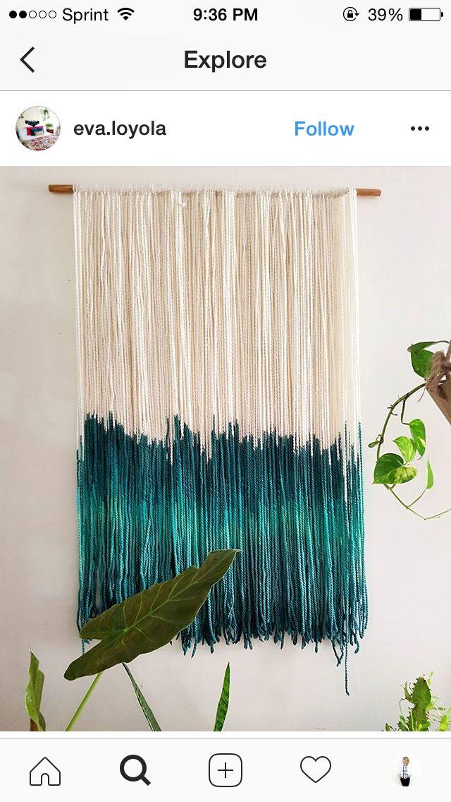 Dip dye curtains!