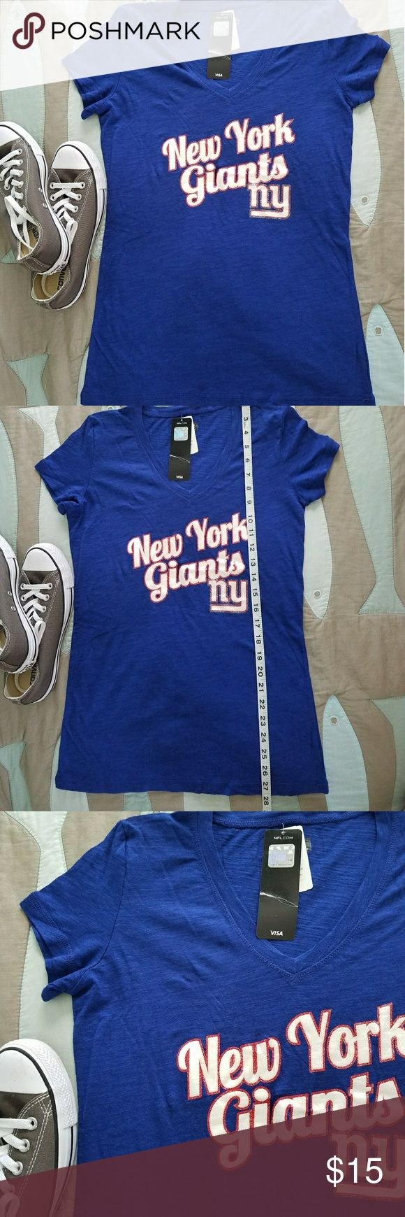 New NFL apparel New York Giants tee shirt Brand new with tags official NFL team apparel in size small New York Giants graphic tee. nfl Tops Tees - Short Sleeve