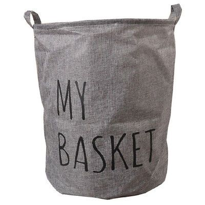 Canvas Folding Dirty Wash Basket Clothes Storage Bin Washing Bag Laundry Hamper