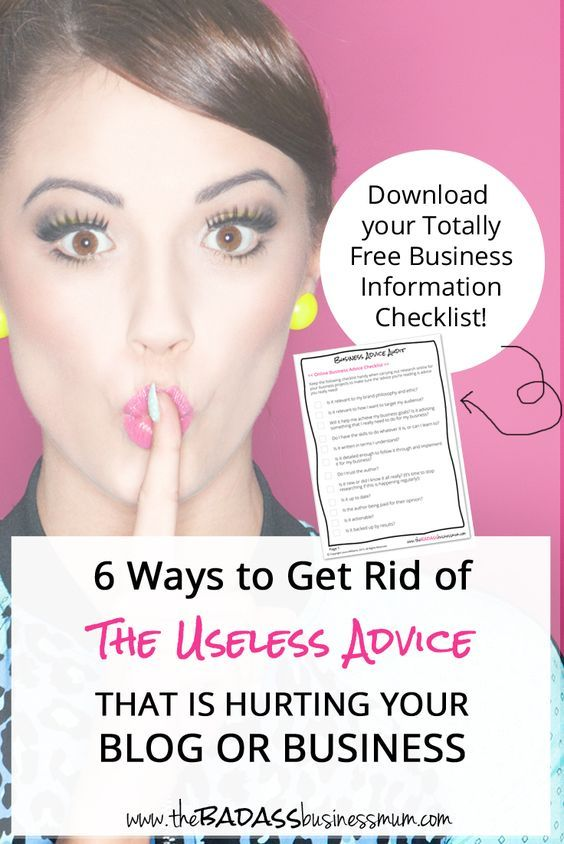 Conquer your Information Overload with these 6 Ways to Get Rid of The Useless Advice That is Hurting Your Blog or Business. And download your Totally Free Business Information Checklist