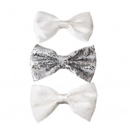 White Bow Clip 3 Pck -perfect for Ariel. Lol