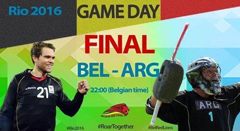 Rio 2016, Finale du tournoi olympique de Hockey entre nos Red Lions et l'Argentine. Quoi qu'il arrive, une soirée historique pour le Hockey Belge, le Sport Belge ! Come on les gars, nous sommes tous avec vous !!! 💪🇧🇪 foto van Pour soutenir le Sport et les Sportifs belges !!!
