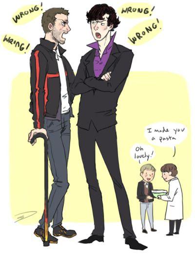 "Sherlock/House. I really like the Watson/Wilson in the corner.  ""Oh lovely!"""
