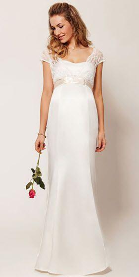 10 lovely maternity wedding dresses | BabyCenter Blog