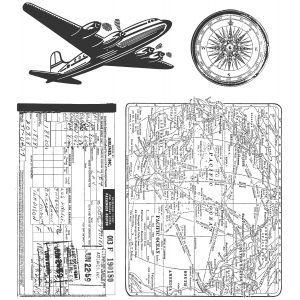 Stampers Anonymous Tim Holtz-POCHOIR-Traveler