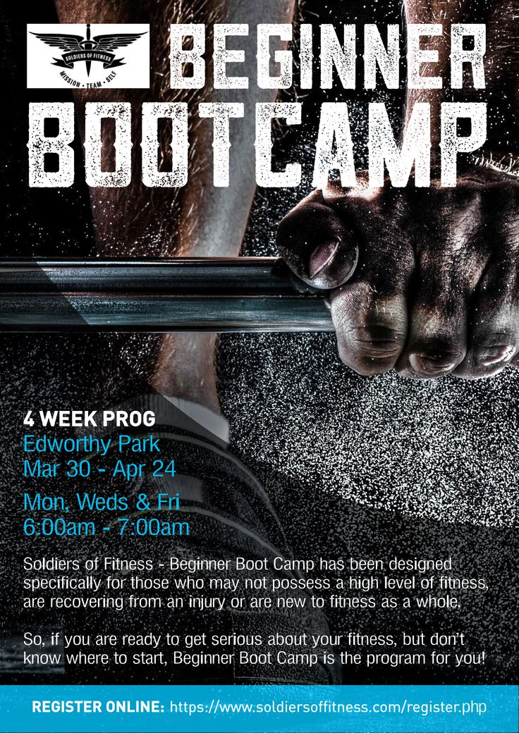 Soldiers of Fitness Bootcamp Poster Design