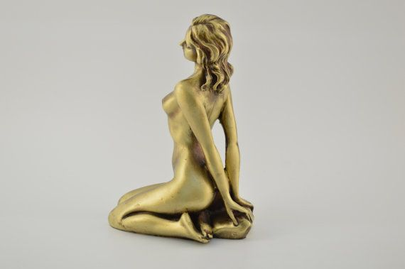 Naked female figure / Bronze plated  7.5inches by CraftsAndMetal
