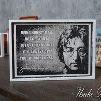 Hiasan Dinding Unik John Lennon Quotes WQ-040 Material : MDF dengan frame kayu Ukuran : 31 x 22 x 2 Cm #johnlennon #hiasandinding #wallquotes #unikedekor