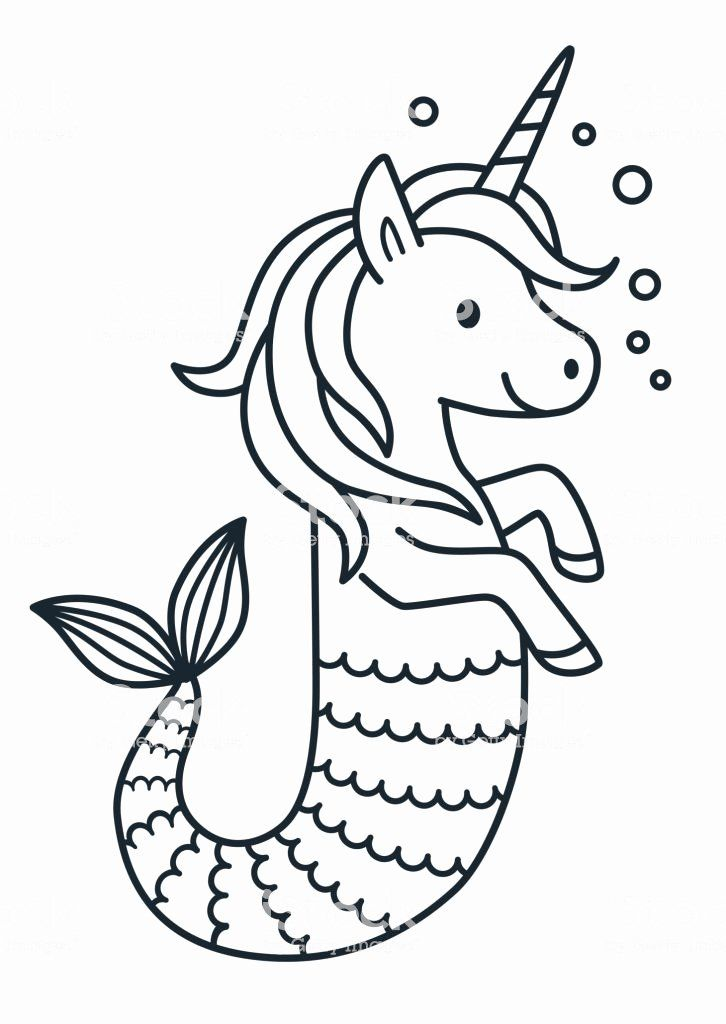 Mermaid Tail Coloring Page Best Of Cute Unicorn Mermaid Vector Coloring Page Cartoon Mermaid Coloring Pages Mermaid Coloring Book Unicorn Coloring Pages