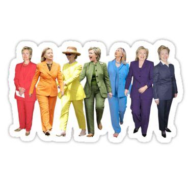 Hillary Clinton Pantsuit by Olivia Buffington