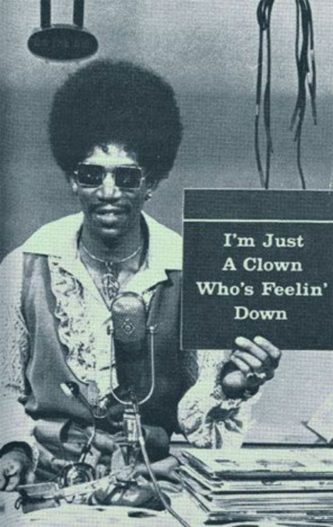 Morgan Freeman sporting a wicked afro in the '70s.