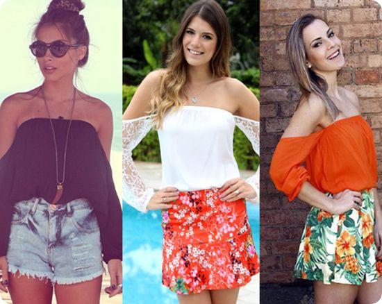 Trend: blusa ciganinha: Sarongs, Trends, Blusa Gipsy, Off Shoulder, Clothing, Ciganinha Por, Blusa Ciganinha, Gipsy Ciganinha, Moldings Blusa