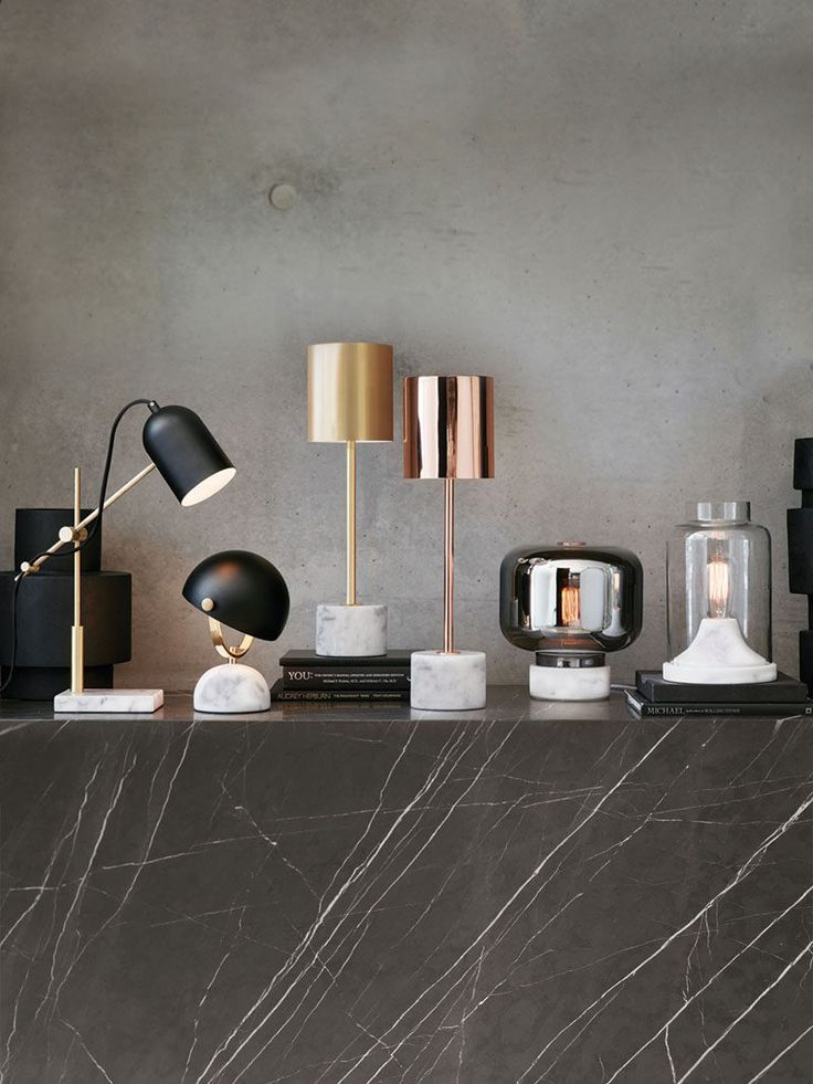 Office Decor Idea - Add A Touch Of Marble // Lighten up your space in more ways…
