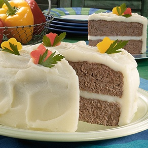 Just in time for April Fools: Meat loaf cake with mash potato frosting