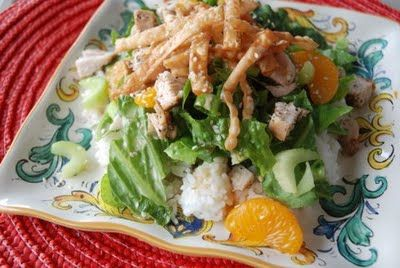WonTon Chicken Salad--my go-to salad for a ladies lunch, shower or family get together.  LOVE IT!