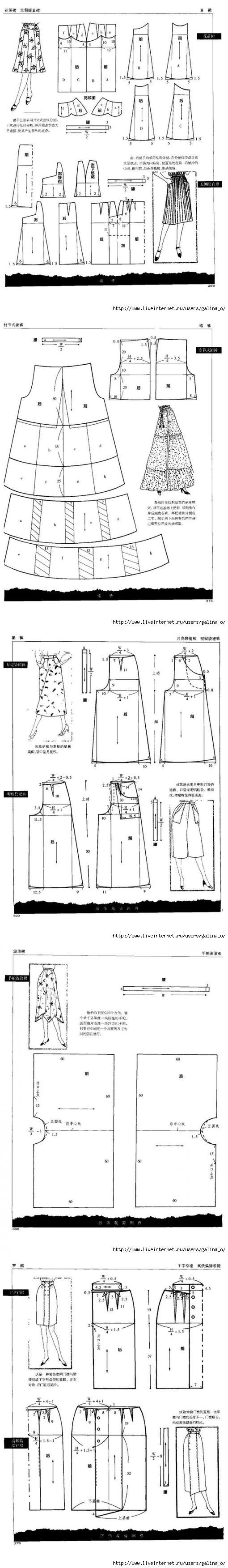 FREE pattern skirt /dress...♥ Deniz ♥