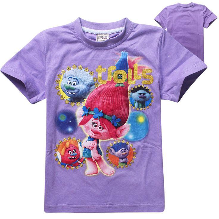>> Click to Buy << Trolls 2016 t-shirt kids clothes girls tops and tees children clothing cartoon boys t shirt girls clothes roupas infantis menina #Affiliate