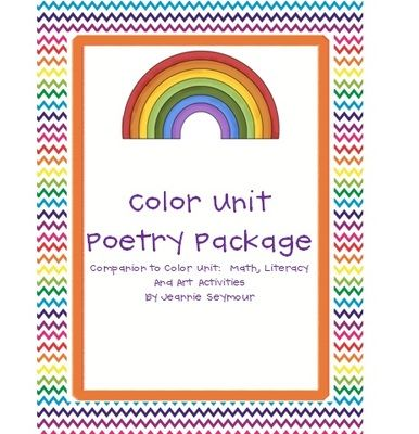 there are 12 full page color themed posters in this package plus 12 smaller pages with 4 copies each of the color poems for use in poetry notebook - Full Page Color