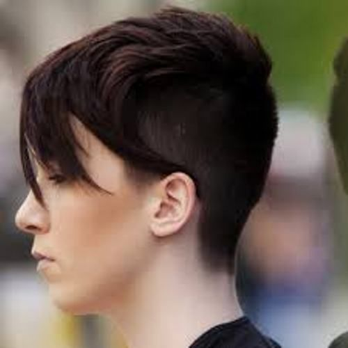 short back and sides long on top side view