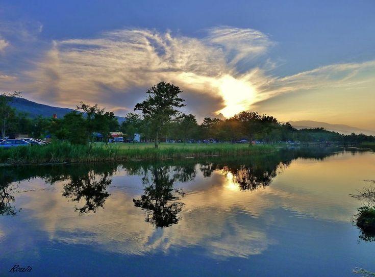 SUNSET...... by Roula Lekka