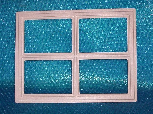 This is a set of 8 WINDOW snap in plastic Inserts for a residential GARAGE DOOR, MFG National,397-1WIS style stockton, This is a WINDOW sna