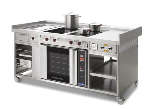 Kitchen Hobs Commercial ~ Professional induction range incorporating heavy duty