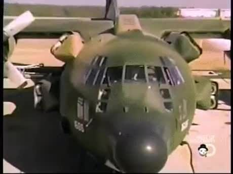 C-130 specially modified to land in a stadium and rescue hostages in Iran in 1980