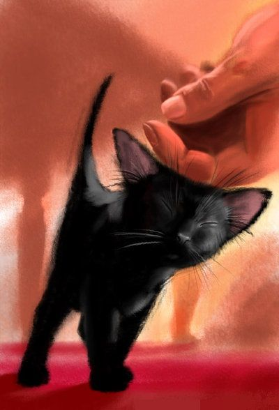 This is an amazingly wonderful painting. The original site has no link to where it came from, but it's on a page with a song that just makes it so much more powerful. I dunno, just a perfect choice. Click through, you'll see. And now I want to go rescue a million kitties for some reason...