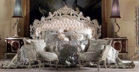 Роскошная кровать и тумбы Итальянская спальня REGENCY Jumbo Collections Классическая мебель ЭЛИТНЫЕ СПАЛЬНИ