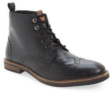 $146, Ben Sherman Birk Wingtip Boot. Sold by Nordstrom. Click for more info: https://lookastic.com/men/shop_items/337981/redirect