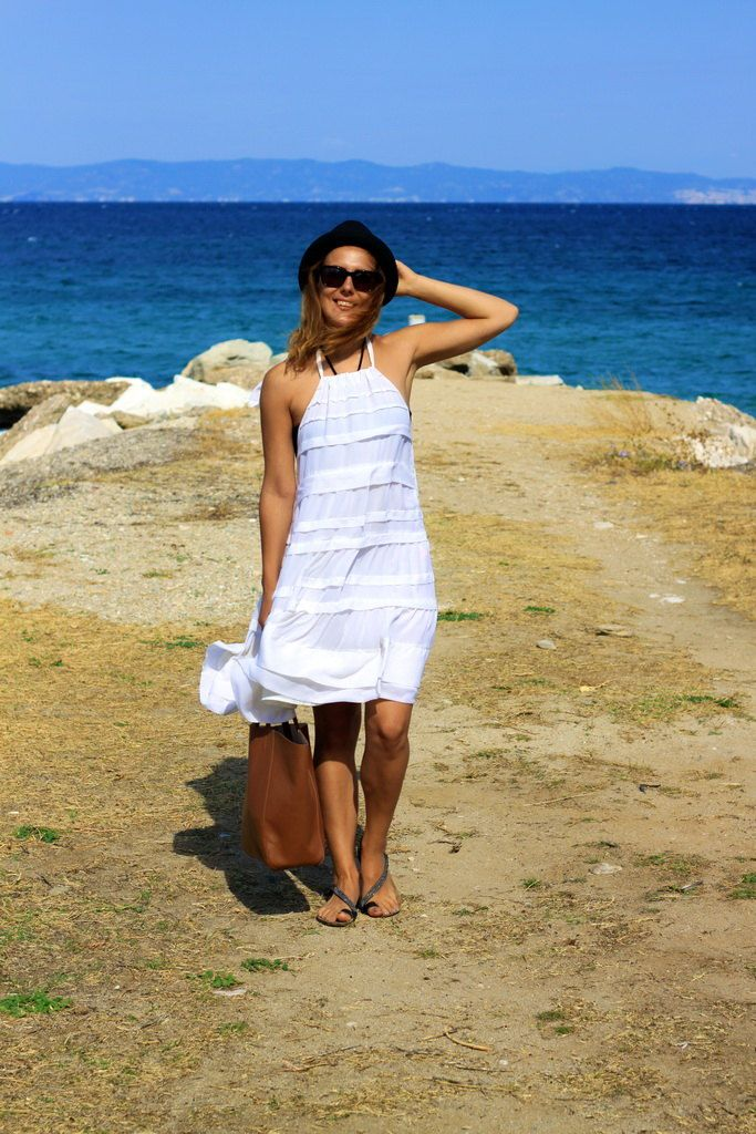 Thassos white dress