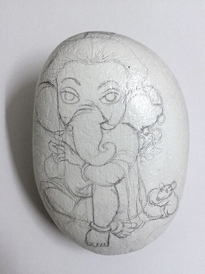 #ganesha #pebble #painting #creative  #gift #idea #yogiarts