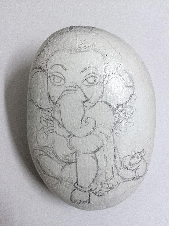 #ganesha #pebble #painting #creative  #gift #idea #yogiarts