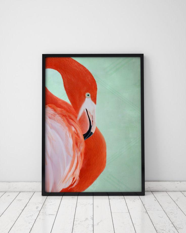 Flamingo Print tropische Wall Art Flamingo Art tropische Decor grote Print Art tropische afdrukken Poster grote Prints Art Print dierlijke kunst aan de muur door MoonBerryPrints op Etsy https://www.etsy.com/nl/listing/253577224/flamingo-print-tropische-wall-art