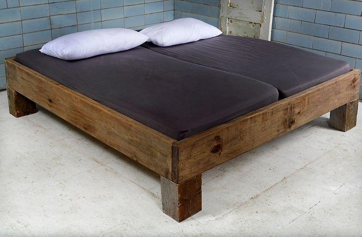 baubohlen bett vignes von baubohlenbett auf pallet bed pinterest bett und. Black Bedroom Furniture Sets. Home Design Ideas