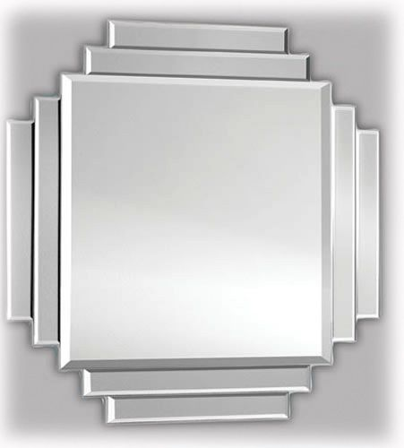 Square Cut Classic Art Deco Mirror [EE188] - £188.10 - Mirrors for Every Interior from Exclusive Mirrors