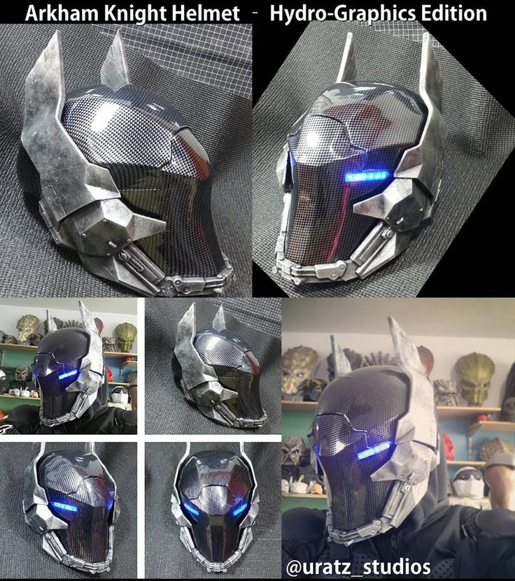 Arkham Knight Helmet Hydro Graphics Edition by Uratz-Studios on DeviantArt