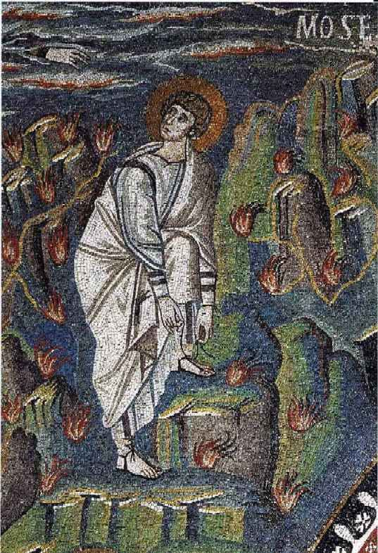 Moïse, Le buisson ardent