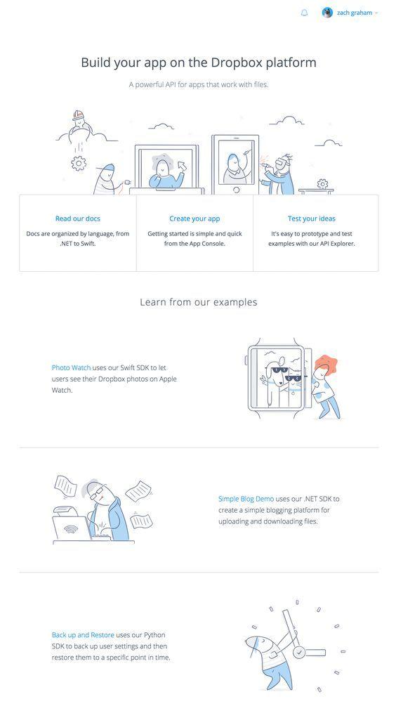 Dropbox design   Website Designs   Web layout, Page design, Website