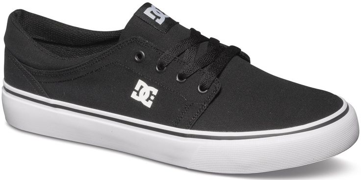 #DC Shoes DC Trase TS Shoes – Black/WhiteThe nuts and boltsLow-top skate shoesPrinted logoMetal eyeletsVulcanized constructionResistant sticky rubber outsoleDC's trademarked Pill Pattern treadCompositionUpper: Textile / Lining: Textile / Outsole: Textile